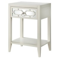 Threshold™ White Mirrored Drawer Accent Table