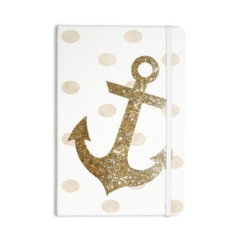 "Nika Martinez ""Glitter Anchor"" Gold Sparkles Everything Notebook"