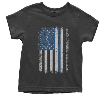 EMT Emergency Medical Technician With Flag Youth T-shirt
