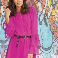 Amber Bell Sleeve Dress at Alloy