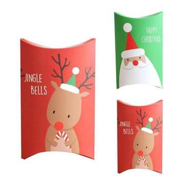 Kraft Paper Favor Candy Box Christmas Gift Packaging bags Zakka Craft Bakery Cookies Biscuits Package Bags Xmas Party Favors 3