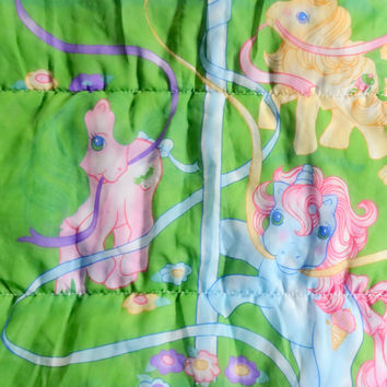 Vintage My Little Pony Sleeping Bag 1988