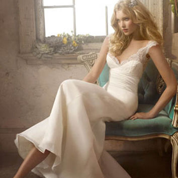 Silk Satin Wedding Dress with Organza Soft Curved A-line Gown | Istareh.Com | Wedding Dresses White Wedding Dress, Formal Wedding Dress, Plus Size Wedding Dress, Strapless Wedding Dress