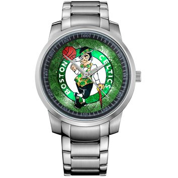 NEW BOSTON CELTICS WIDE LOGO Metal Watch