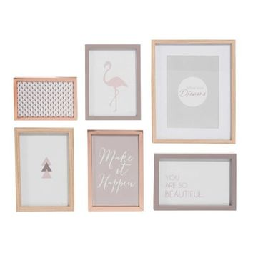 COPPER 6 photo frames | Maisons du Monde