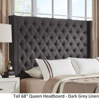Naples Wingback Button Tufted Tall Headboards by iNSPIRE Q Artisan | Overstock.com Shopping - The Best Deals on Headboards