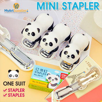 Mini Panda Stapler (1 Or 5 Pack) With 1000 Staplers