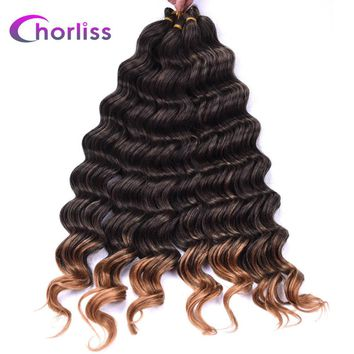 """Chorliss 22"""" Dark Blonde Synthetic Ombre Braiding Hair Extensions"""