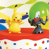 Pokemon Cake Toppers - Pikachu & Darkrai Party Accessory