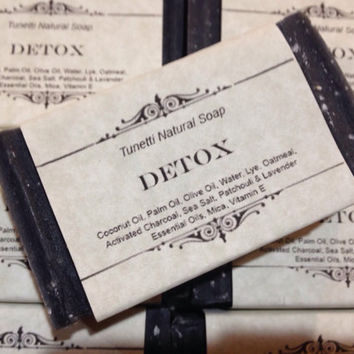 Detox Natural Homemade Soap (activated charcoal and sea salt), Handmade soap, Natural Soap, Cold Process Soap