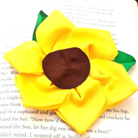 Sunflower (Halloween/Fall) Hair Bow - Large