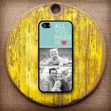 All You Need Is Love Customizable Photo Case. Choose iPhone 4/4s, 5/5s or 5c.