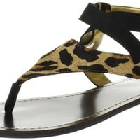 Nine West Women's Fraid Flat,Natural Multi/Black Leather,9 M US