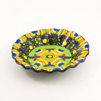 Fiesta Bowl, Mexican Decoration, Colorful Candy Dish, One of a Kind Design, Unique Serving Dish, Contemporary Decor, Cool Hostess Gifts