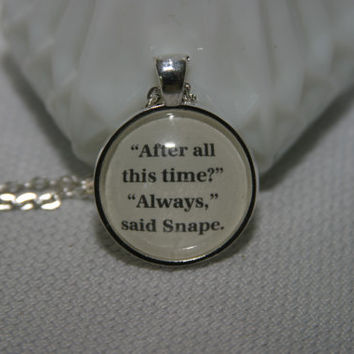 Harry Potter Book Page Pendant After All This Time, Always Necklace Harry Potter Character Necklace Choose your Character