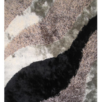 "Fantasy Shaggy 5'x7'3"" Multi-Color Area Rug"