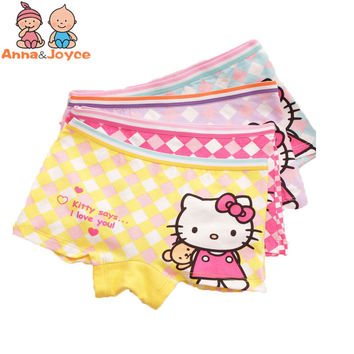 4pcs/lot Children/kids/girls boxer cartoon boxer / underwear / Briefs /Panties/ underpants ftnn8133