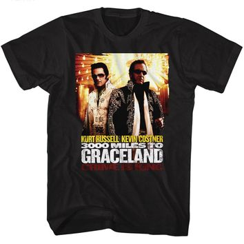 3000 Miles To Graceland T-Shirt Poster Black Tee
