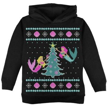 ICIKIS3 Mermaid Tree Ugly Christmas Sweater Toddler Hoodie