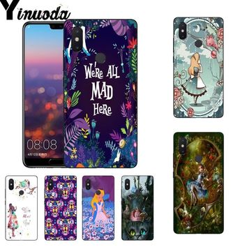 Yinuoda Alice in Wonderland Unique Design phone case for Xiaomi Mi 6 Mix2 Mix2S Note3 8 8SE Redmi 5 5Plus Note4 4X Note5