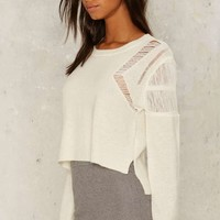 Glamorous Give Me a String Distressed Sweater