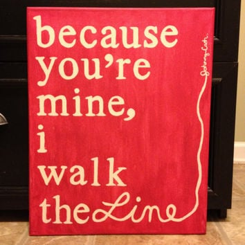 Wall Art- Johnny Cash quote made on canvas with acrylic paint