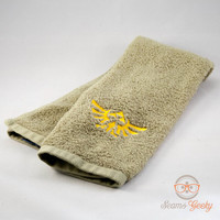 Zelda Triforce Inspired - Embroidered Hand Towel