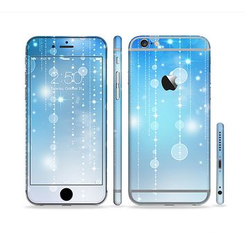 The Translucent Blue & White Jewels Sectioned Skin Series for the Apple iPhone 6