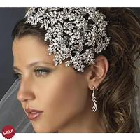 Bridal Crown Crystal Headband wedding Hair Jewelry