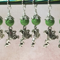 6 Frog Stitch Markers- Snag Free Knitting Tools