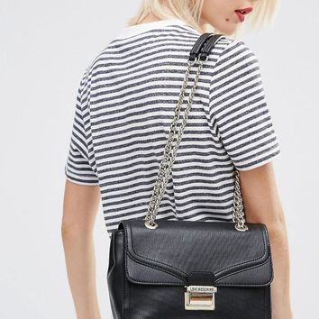 Love Moschino | Love Moschino Shoulder Bag With Chain Straps at ASOS