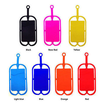 Silicone Lanyard Case Cover Holder Sling Necklace Wrist Strap For Cell Phone HUS