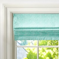 Mini Dot Cordless Roman Shade With Blackout Lining