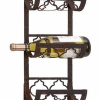Benzara Metal Wall Wine Rack A Personal Bar Accent To Save Space