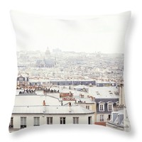 """Paris Montmartre Rooftop Throw Pillow for Sale by Ivy Ho - 16"""" x 16"""""""
