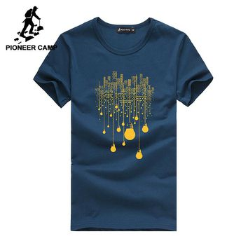 Pioneer Camp 2-pack short T-shirt men brand clothing fashion printed t shirt male summer o-neck Tshirt soft and comfortable