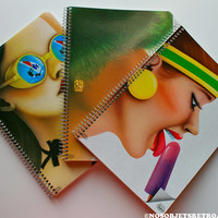 Vintage Spiral Notebooks from the 80's by ObjetsRetroAndCo on Etsy