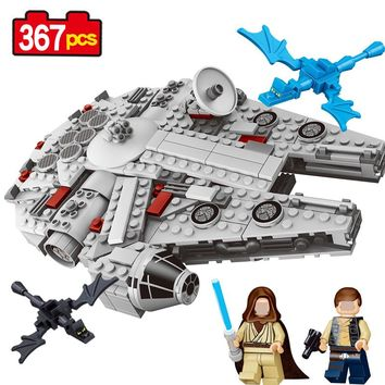 79213 series star wars model kits Millennium Falcon Force awakens 367Pcs Small size Model building blocks toys for children