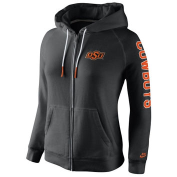Oklahoma State Cowboys Nike Womens Rally Full Zip Hoodie - Black