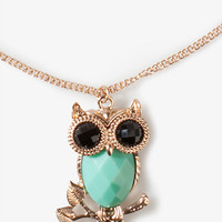 Faceted Owl Necklace