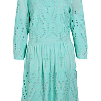 Boutique Liz Cutwork Chifley Front Dress