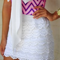 It's So Lacy Skirt: Crisp White | Hope's