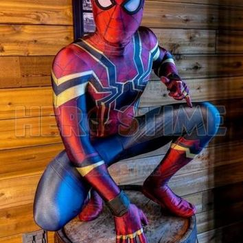 Spider-Man Homecoming Costume Iron Spiderman Cosplay Costume 3D Print Spandex Movie Homecoming Iron Spider Suit