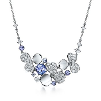 Tiffany & Co. - Tiffany Paper Flowers™:Diamond and TanzaniteCluster Necklace