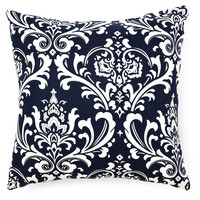 Paisley 20x20 Outdoor Pillow, Navy, Decorative Pillows