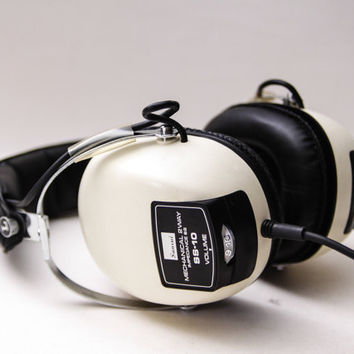 Vintage SANSUI Model SS-10 Stereo Dynamic Headphones