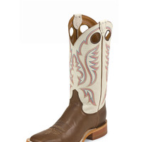Justin Men's Bent Rail Boots in Chocolate Burnished Calf BR301 - Handcrafted in the U.S.A.