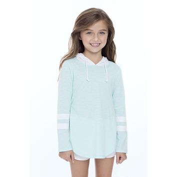 Girls 2 Color Over-Sized Hoodie