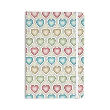 "KESS InHouse Everything Notebook, Journal Julia Grifol ""My Hearts"" Multicolor (JG1036ANP01)"