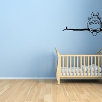 My Neighbor Totoro on Branch - Wall Vinyl Decal